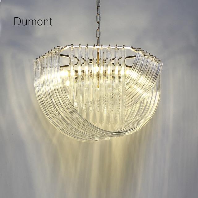 Transparent Glass Cross Pendant Lights Dining Room Postmodern Personality Creative Suspension Lightings Energy Saving E14
