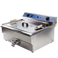 Uso comercial fritadeira profunda 220 v 7000 w 30l grande industrial fritadeira de gordura óleo elétrico máquina fritar peixe frito frango batata|Fritadeiras elétricas| |  -