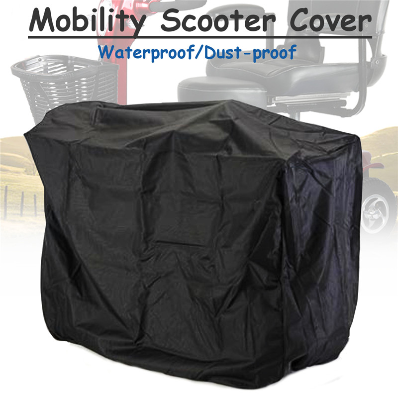 150x116x80cm Black Electric Mobility Scooter Cover Scooter Cover Scooter Sun Rain Cover Auto Car Exterior Protector Accessories