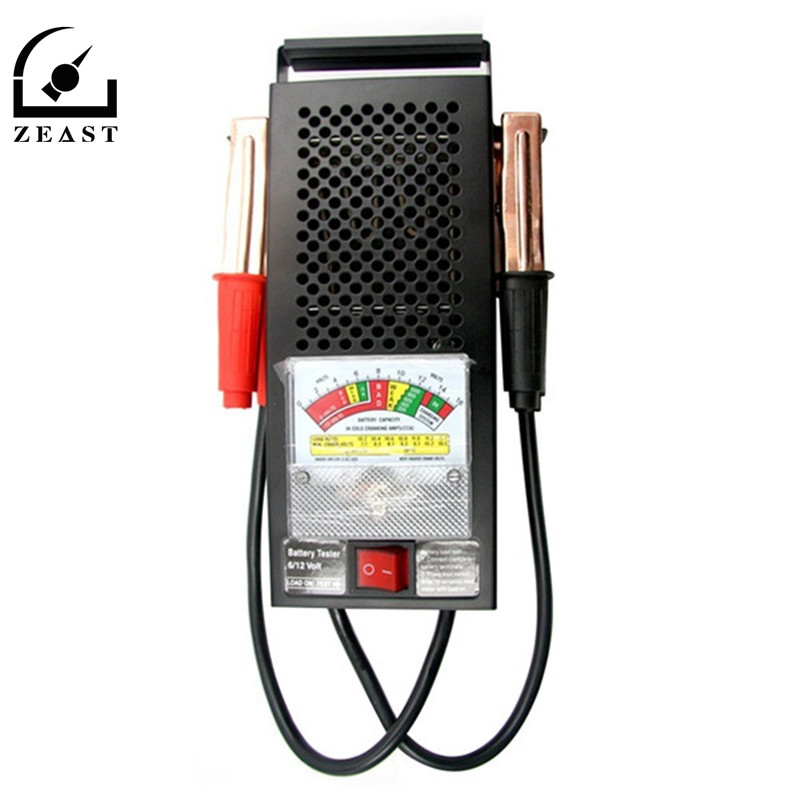 T16594 Car Electric Battery Meter Tester  Analyzer Auto 12V for Sallon Truck Motorcycle Batterys Voltage Meters Set new arrival micro 468 car battery system tester for 12v