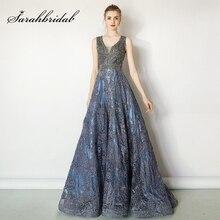 יוקרה ואגלי אירועים ערב שמלות 2021 ארוך מפלגה שמלות פסק סקסי Robe דה Soiree V צוואר גבירותיי דובאי Vestidos L5487