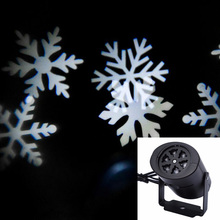 Newyear white snowflake Lamp LED Laser Projector Stage Light outdoor slotcard Xmas Party Garden ornament Christmas Lighting