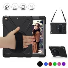 Conelz For iPad Air Case 5 Shockproof with a 360 Degree Swivel Kickstand Hand Strap Shoulder for 9.7