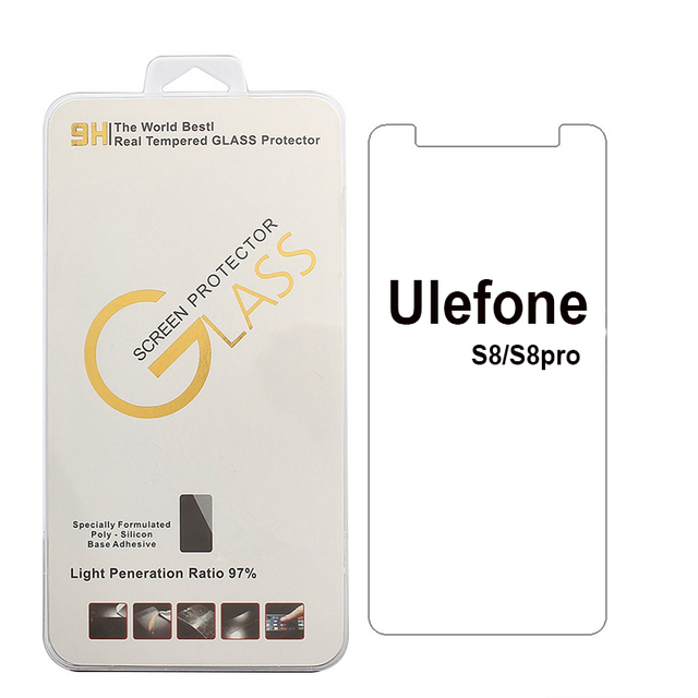 For Ulefone S8 pro / Metal/ Paris Tempered Glass 9H 2.5D High Quality Protective Filmfree white edge liquid