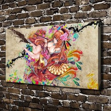 A1251 Sexy Girl Naked Anime Figures Scenery .HD Canvas Print Home decoration Living Room bedroom Wall pictures Art painting
