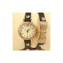 Fashion Luxury Brand Women Rhinestone Bracelet Watches Casual Bow-tie Leather Ladies Dress Quartz Wristwatch Relogio Feminino