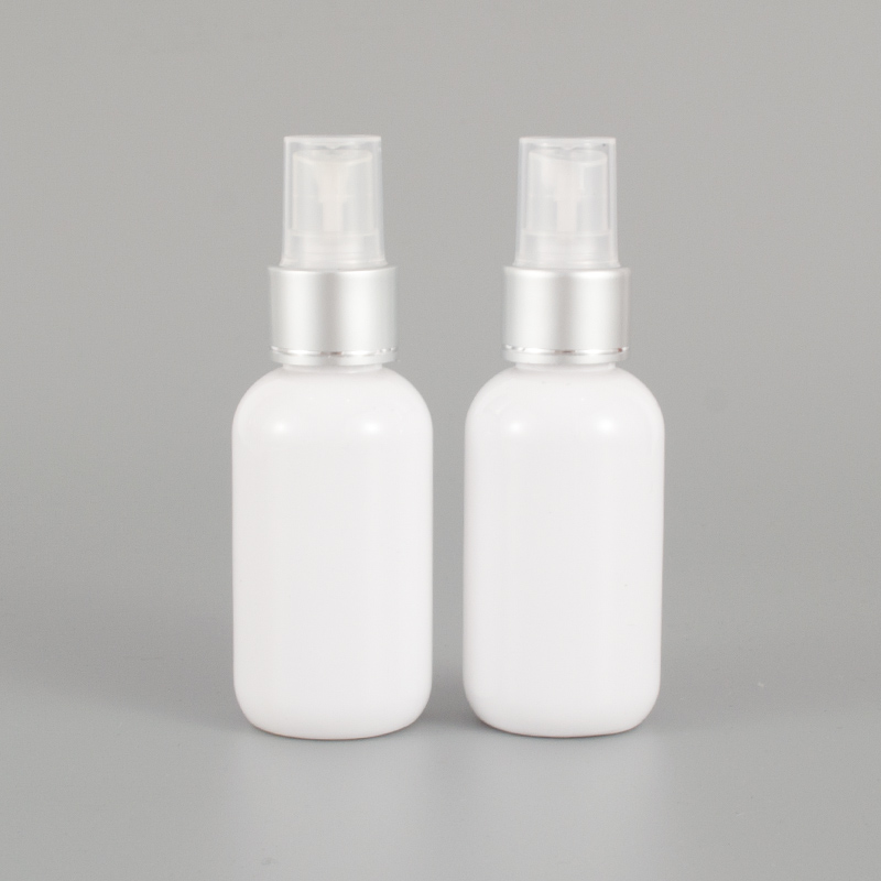50ml X 50 White Perfume Mist Spray Bottle, Makeup setting spray Pump Cosmetic Container Perfumes and Fragrances For Women Empty-in Refillable Bottles from Beauty & Health    1
