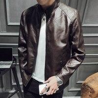 2019 Spring New Leather Jacket Fashion Hot Business Slim Leisure Work Travel Motorcycle Men's Leather Jacket Autumn Jacket