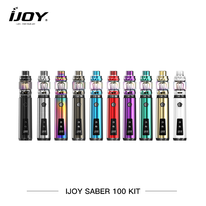 Original Cigarettes Électroniques Ijoy SABRE 100 w Kit 20700 batterie Diamant Sous ohm Réservoir Vaporisateur OLED affichage Vaporisateur E Cigarettes