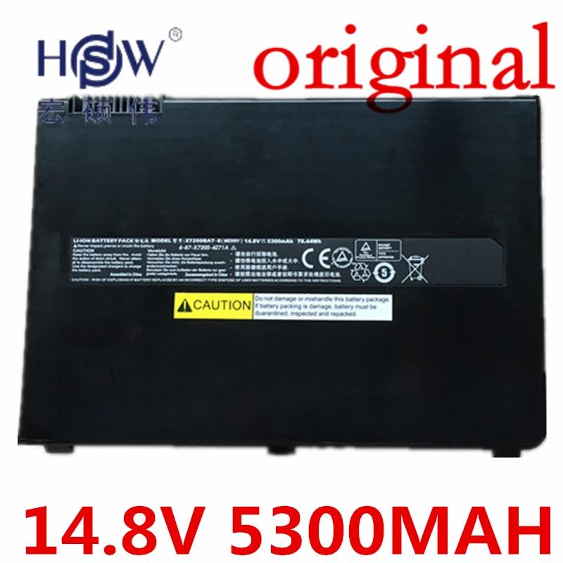 HSW   Battery F0r Clevo Terrans Force X7200,X7200 6-87-X720S-4Z7,6-87-X720S-4Z71,X7200BAT-8,x7200BAT-8(RXA) akku original rechargeable clevo w370bat 8 li ion battery 6 87 w370s 4271 6 87 w37ss 427 k590s laptop battery 14 8v 5200mah 76 96wh