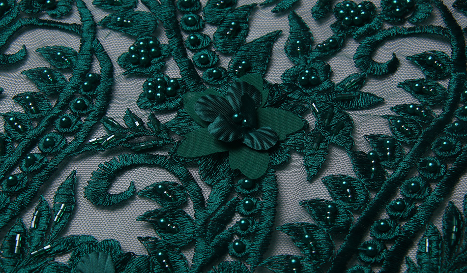 SexeMara Latest 2017 African Lace Fabric With Beaded And Stones Nigerian Wedding Embroidered French Tulle Lace Material For Bri