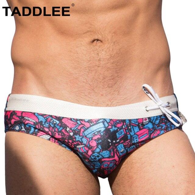 e90ebaee953f5 Taddlee Brand Swimwear Men Swimsuits Sexy Swim Boxer Briefs Bikini Gay  Penis Pouch WJ Pad Inside Surfing Board Shorts Trunks New