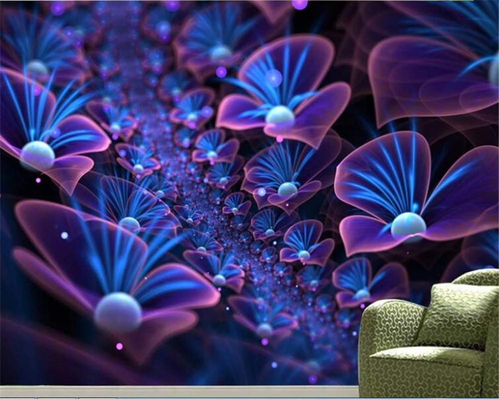 beibehang Custom Abstract Wallpaper Full Web Exclusive Three Dimensional Dream God Milan Plant Art Background wallpaper 3d