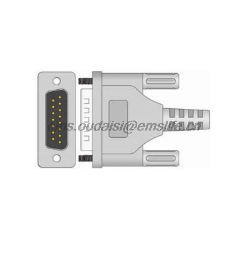 Schiller EKG DB15pin connector voor Ecg kabel onderdelen van patiënt ...