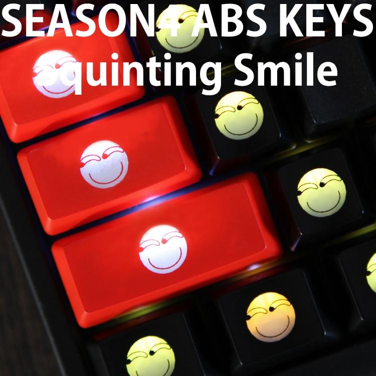 Light Mechanical-Keyboard Funny Shine-Through-Keycaps Novelty Capslock Custom Black ABS
