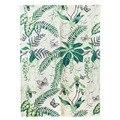 Японский Норен Дверной Занавес тропический лес Forset листья стиль кухни дверь занавес хлопок лен домашний Декор стены 85X120 см