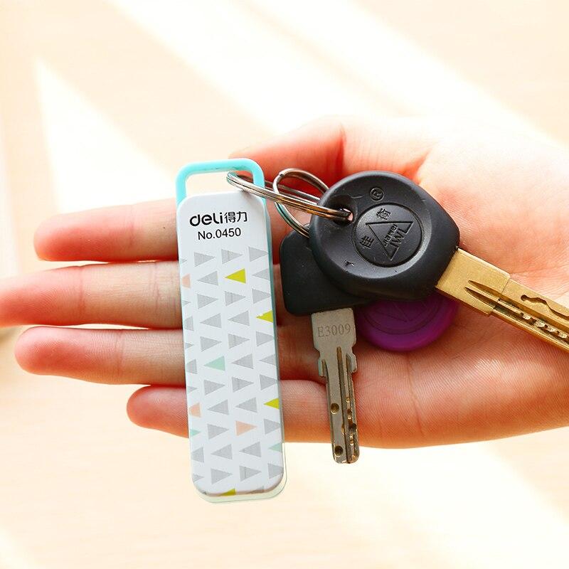 1 Set 1 Pcs Mini Key Ring Stapler + 1 Pack 800 Pcs 10# Colored Staples For Students 80x20x15mm 3 Colors Deli 0450 comix durable 50 page 12 stapler w staples blue 3 pcs
