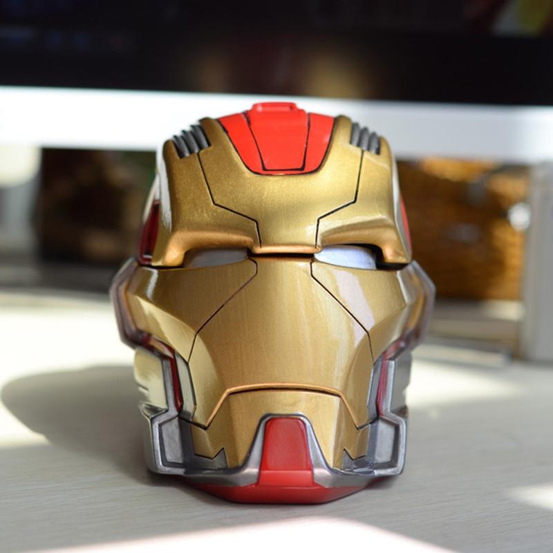 Iron Man The Avengers Ashtray-Figure-Model Kids Super-Hero Toy Piggy-Bank Gift Best Adult