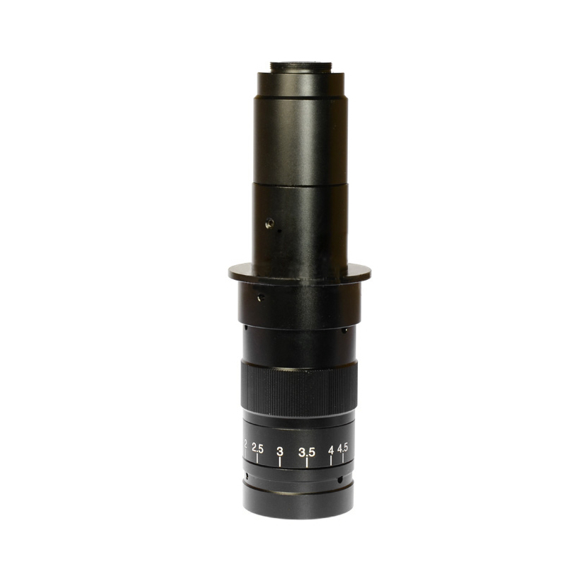 Adjustable 180X  25 mm Zoom C-Mount Industrial Microscope Digital Camera Objective Lens with 0.5X Adapter Free Shipping 300x zoom c mount lens industrial video microscope monocular 0 7x 4 5x digital lens used for mobile phone repair diagnostic tool