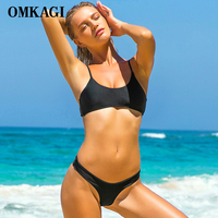 OMKAGI Brand Sexy Bikinis Set Swimwear Swimsuit Women Push Up Swimming Bathing Suit Beachwear Brazilian Bikini