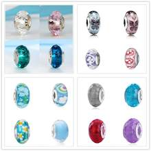 100% Authentic 925 Sterling Silver Beads Charms Crystal Round Clear Green Blue Fit Pandora Bracelets & Bangles Women DIY Jewelry(China)