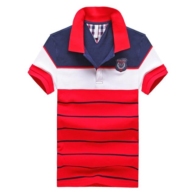 2016 Summer Mens Striped Polo Shirt Brands Polo Ralp Men Shirts Short Sleeve Cotton Camisa Polo Masculina Homme Fashion Polos