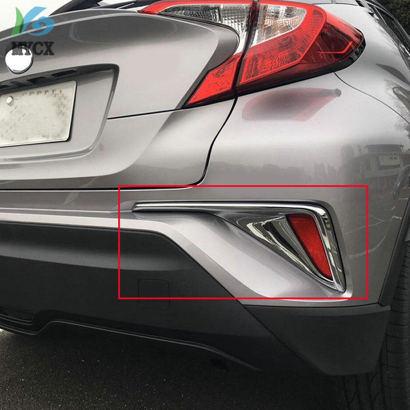 For Toyota C-HR CHR 2016 2017 2018 Car Chrome Styling ABS Rear Fog Light Covers Stickers Exterior Decoration Auto Accessories