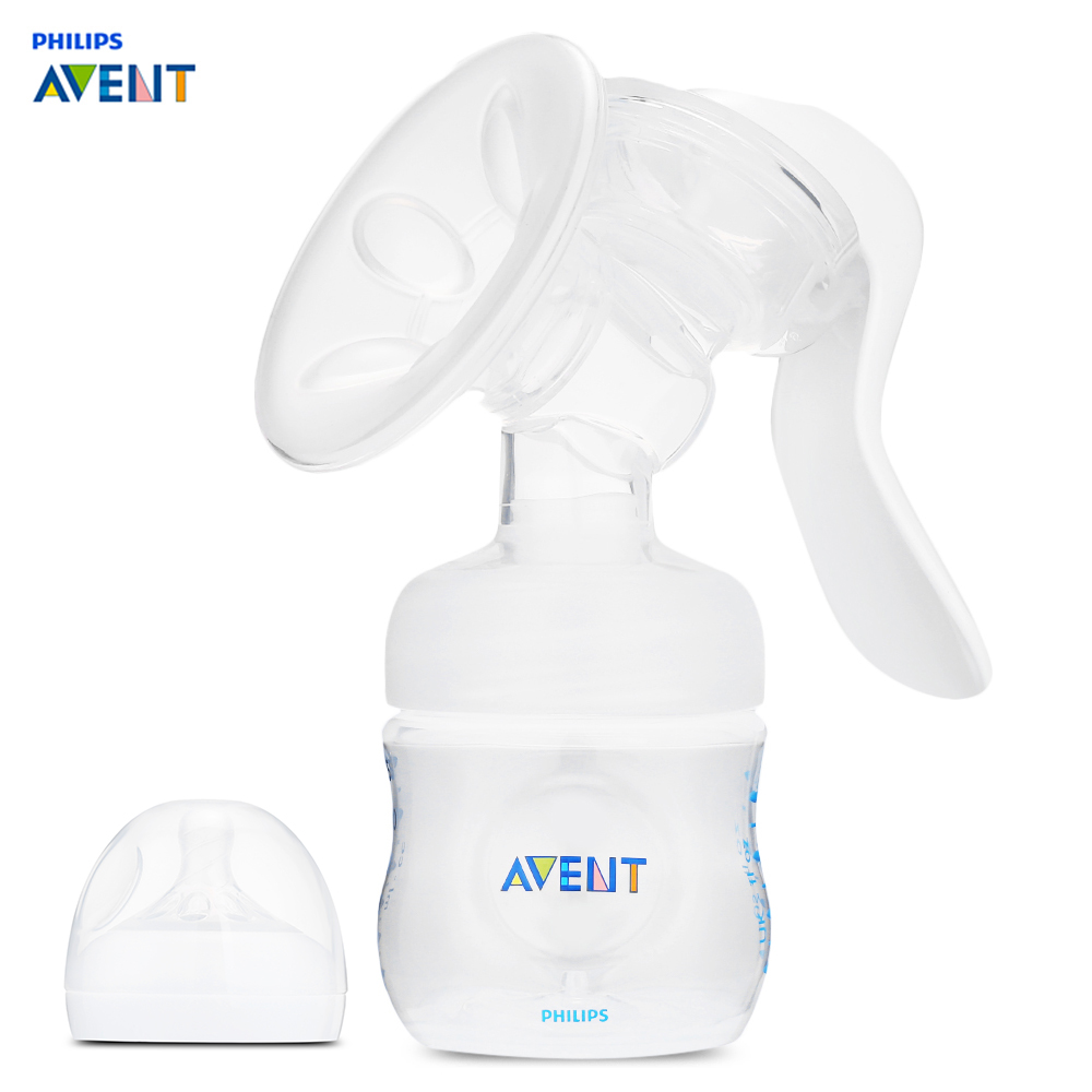 Philips Avent Manual Breast Pump Strong Attraction Baby Products Women Feeding Original Baby Nipple Suction BPA Free Milk Bottle стоимость