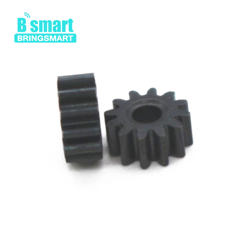 цена на Bringsmart 5pcs M0.4*12T Micro Motor Output Gear Inner Diameter 2mm Spur Gear Metal Ring Motor Pinion Gear Motor Accessories