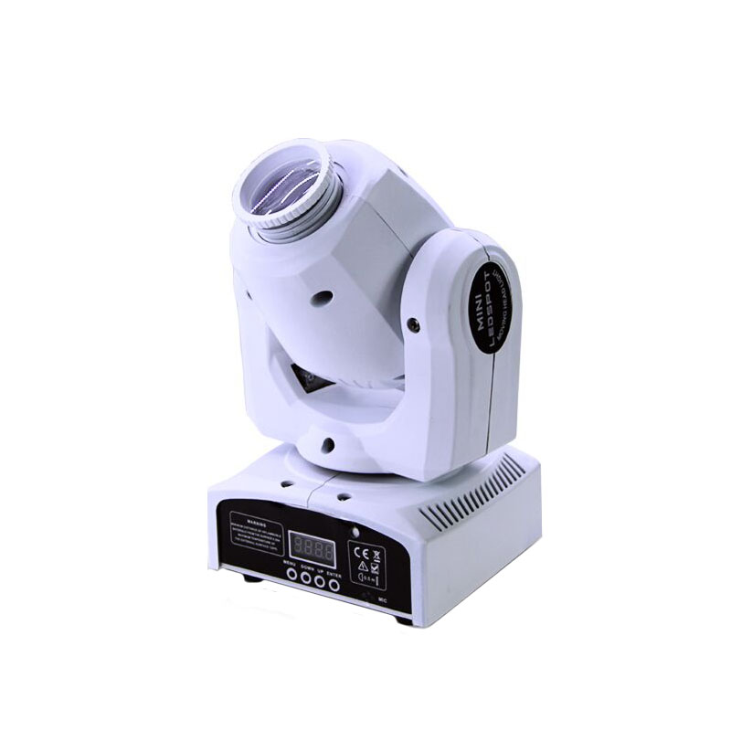 White Shell Color 30W Lyre Avec Gobos Light DMX Moving Head Light Dmx Control Disco Lights Of Professional DJ Equipment