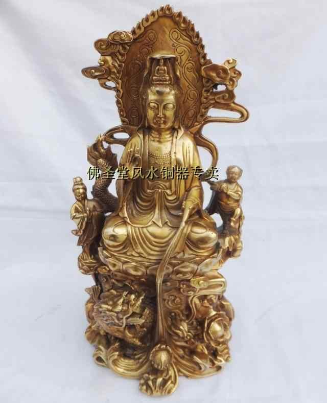 Avaloktesvara patung perunggu patung perunggu kerajinan tembaga dekorasi tembaga buddha guanyin buddha Besar