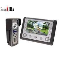 SmartYIBA 7 дюймов непромокаемый видео дверной звонок Кнопка вызова камера 1000TVL цветная Проводная видеодомофон для личных домов
