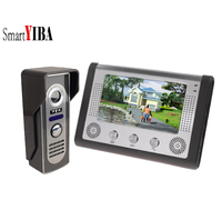 SmartYIBA 7 Inch Rainproof Video Door Phone Doorbell Call Button Camera 1000TVL Color Wired Video Intercom for Private Houses