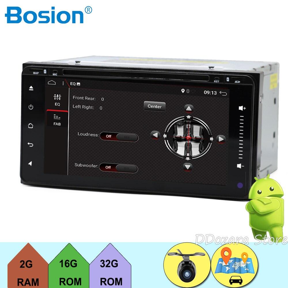 2 din 6.95 android 7.1 200*100 Voiture lecteur dvd gps + BT + Radio + écran tactile + voiture pc + aduio + Stéréo + Vidéo Pour Toyota Hilux Camry Corolla