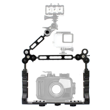 купить Aluminum Handheld Handle Hand Grip Stabilizer Rig Underwater Scuba Diving Stabilizer Tray Mount for Video Gopro DSLR Cam дешево