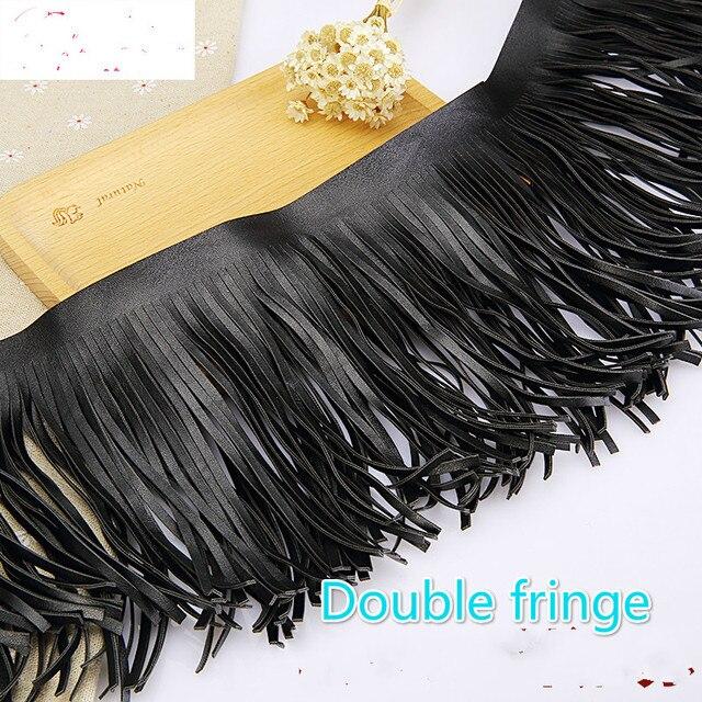 15 см черная замшевая кожаная кружевная юбка одежда с кисточками сумка ручной работы DIY hem Аксессуары 1 ярдов