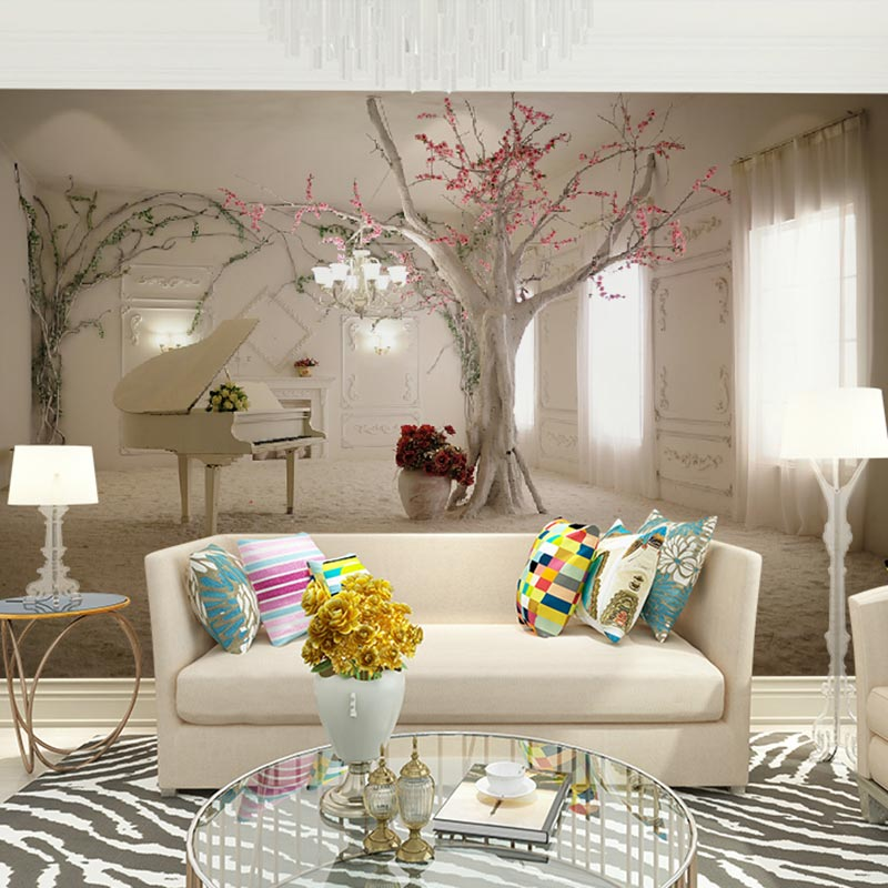 Home Decor Mural Wall Papers 3d European Wall Murals Living Room Girl  Bedroom Photo Wallpaper (self Adhesive Vinyl Optional) In Wallpapers From  Home ... Part 50