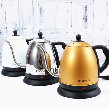 1L gooseneck Kettle Electric water Kettle  Stainless Steel For Drip Coffee Tea 1500W Off Automatically Automatic Water Teapot 2