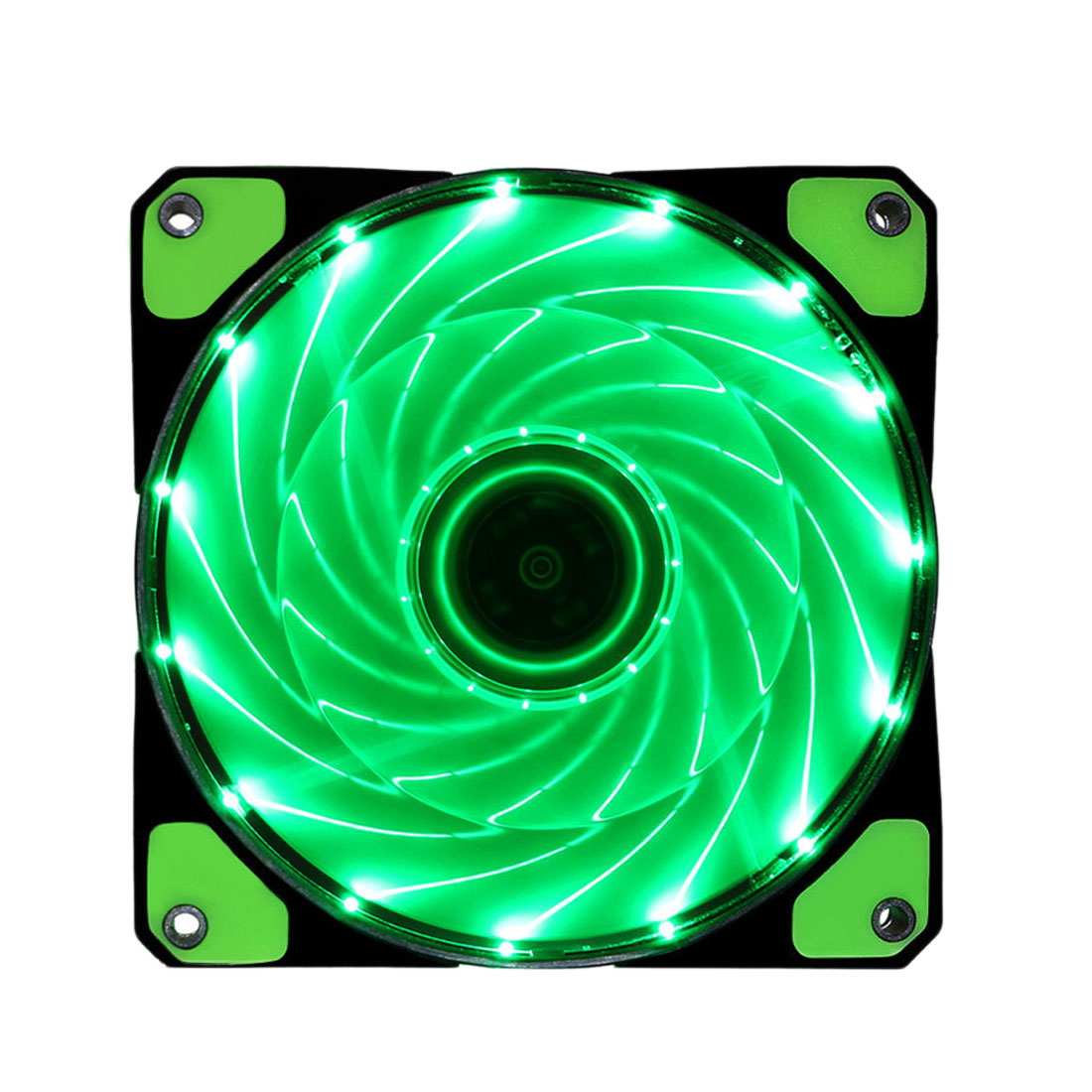 Etmakit 120mm LED Ultra Computer Cooler Silent Computer PC Case Fan 15 LEDs 12V With Rubber Quiet Connector Easy Installed Fan