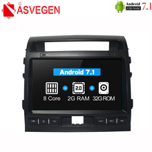 купить Asvegen Android Octa Core Car Radio For Toyota LAND CRUISER 2007-2015 2 din Car Stereo Multimedia PC head Unit GPS Navigation дешево