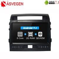 Asvegen Android Octa Core Car Radio For Toyota LAND CRUISER 2007 2015 2 Din Car Stereo