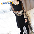 2015 Dress Maternity Women Summer Dresses  Elastic Fold Casual Dresses For Pregnant Gravidity Pregnancy Clothes Vestidos MD4