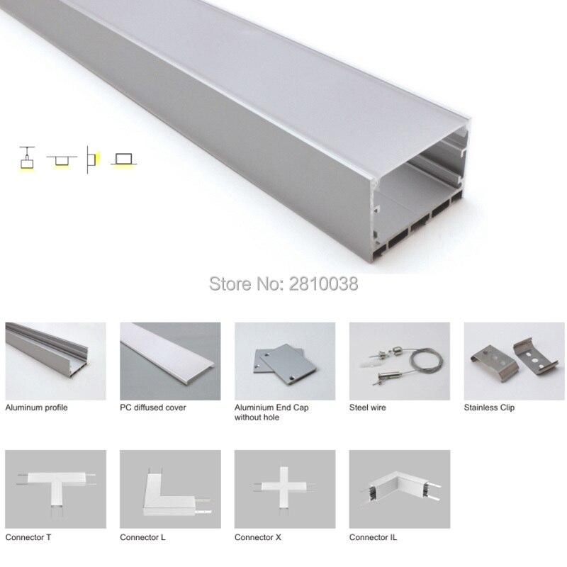 conjuntos 30x2 m lot led strip perfil de aluminio anodizado prata u estilo led habitacao perfil