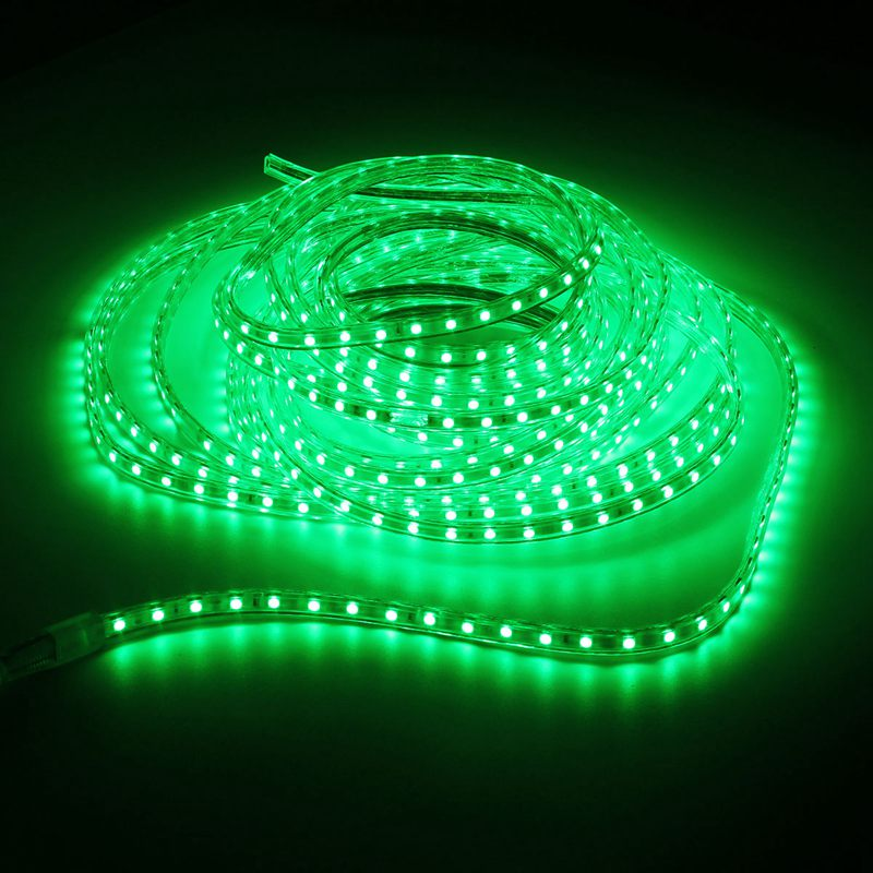 1/2/3/4/5/6/7/8/9/10/11/12/13/14/15/20M Waterproof 220V RGB LED Strip Light 5050 SMD Flexible Tape Rope Party Garden