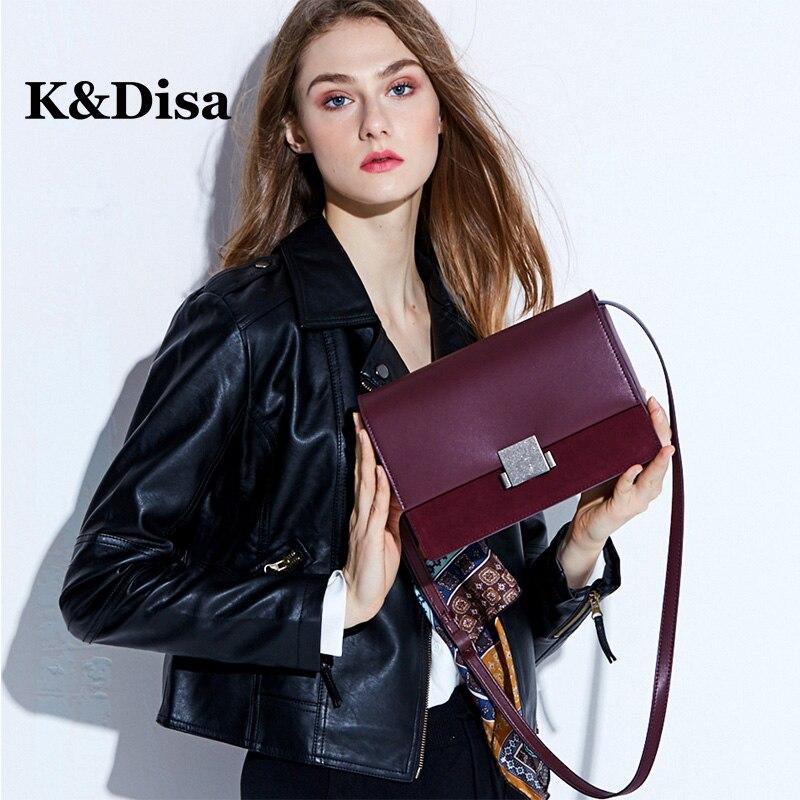 Genuine Leather Women Flaps Solid Shoulder Bag Fashion Brand Messenger Bags Mini Crossbody Bag Leather Handbags For Women 2018 stylish women s crossbody bag with solid
