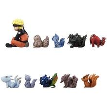 2017 New 10Pcs/Set PVC Mini 4-7Cm Uzumaki Naruto Bijuu Kyuubi Action Figures Collection Model Educational Toys For Children Gift
