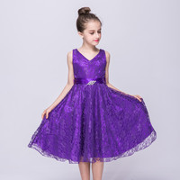 9 Colors Baby Girls Dress Chiffon Lace Pinrcess Dresses Summer Children Clothing Kid Girl S Clothes
