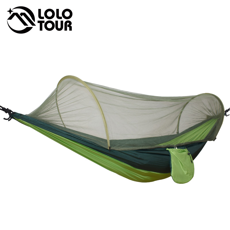 Outdoor Camping Parachute Hammocks Mosquito Net Hamac Can Be Used Camping Survival Travel Hiking Trekking Sleeping Tent Mats