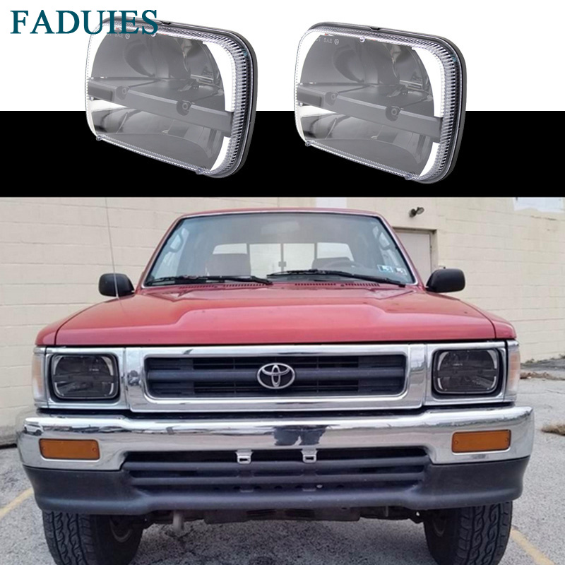 FADUIES Square Led Headlamp 5x7 Inch Led Truck Headlight 6x7 High Low Beam Square Led Headlight For Jeep Cherokee XJ Trucks pair square 5x7 inch led headlight daymaker sealed beam replacement truck light high low beam headlamp for jeep wrangler yj