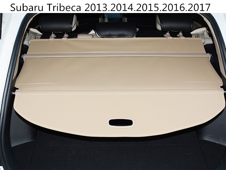 Car Rear Trunk Security Shield Cargo Cover For Subaru Tribeca 2013.2014.2015.2016.2017 High Qualit Black Beige Auto Accessories car rear trunk security shield shade cargo cover for toyota highlander 2009 2010 2011 2012 2013 2014 2015 2016 2017 black beige